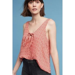 Anthropologie Maeve Verena Tie Front Blouse Small